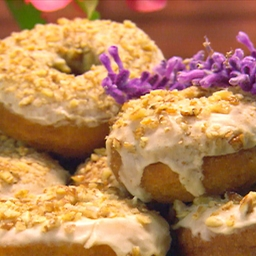Sweet Potato Doughnuts with Maple Icing