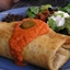 Baked Beef and Bean Chimichangas