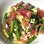 Cheese Curd, Asparagus, and Prosciutto Pasta Salad
