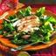 Chicken and Pear Salad on Arugula