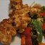 Chicken Satay with Vegetables and Peanuts