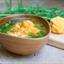 EDAMAME, ORANGE CAULIFLOWER & TOMATO SOUP