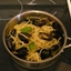 Fettucini with Mussels in a White Wine and Basil Oil Sauce