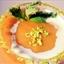 Fresh Peach Yogurt Soup w/ Pistachios & Candied Mint Leaves