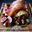 Glazed Pork Loin with Fig Stuffing