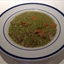 Green Split Pea Soup with Smoked Sausage