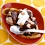 Grilled Banana Splits with Coffee Ice Cream and Mocha Sauce