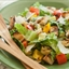 Grilled Veggie Caesar Salad with Sourdough Croutons
