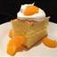 Lemon cake with lemon filling and Mandarin oranges