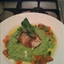 Monkfish rapped in Parma Ham served with pea & mint puree