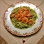 Shrimp Linguine in a Creamy Pesto Sauce