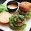 Skillet Chicken Burgers with Ginger, Scallions, and Sriracha Mayonnaise