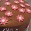 Strawberry Ice-Cream Cake covered in chocolate ganache